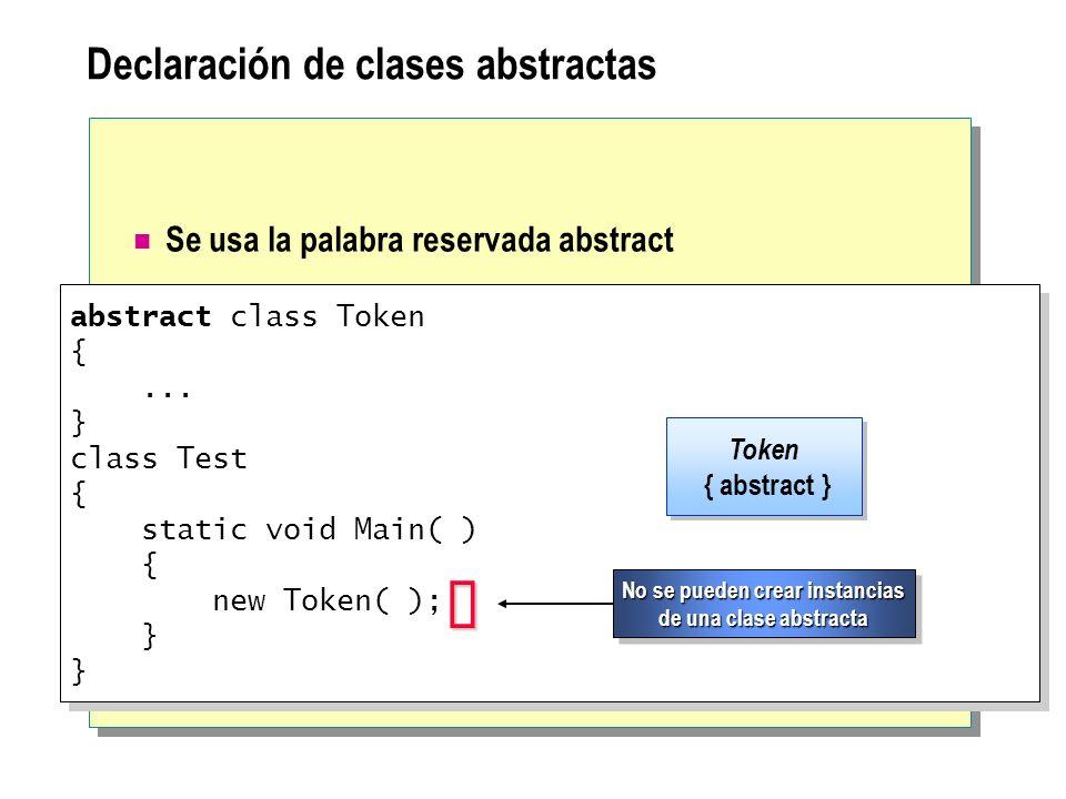 Declaración de clases abstractas