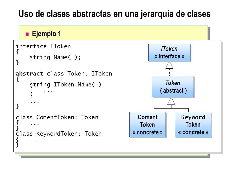 Uso de clases abstractas en una jerarquía de clases