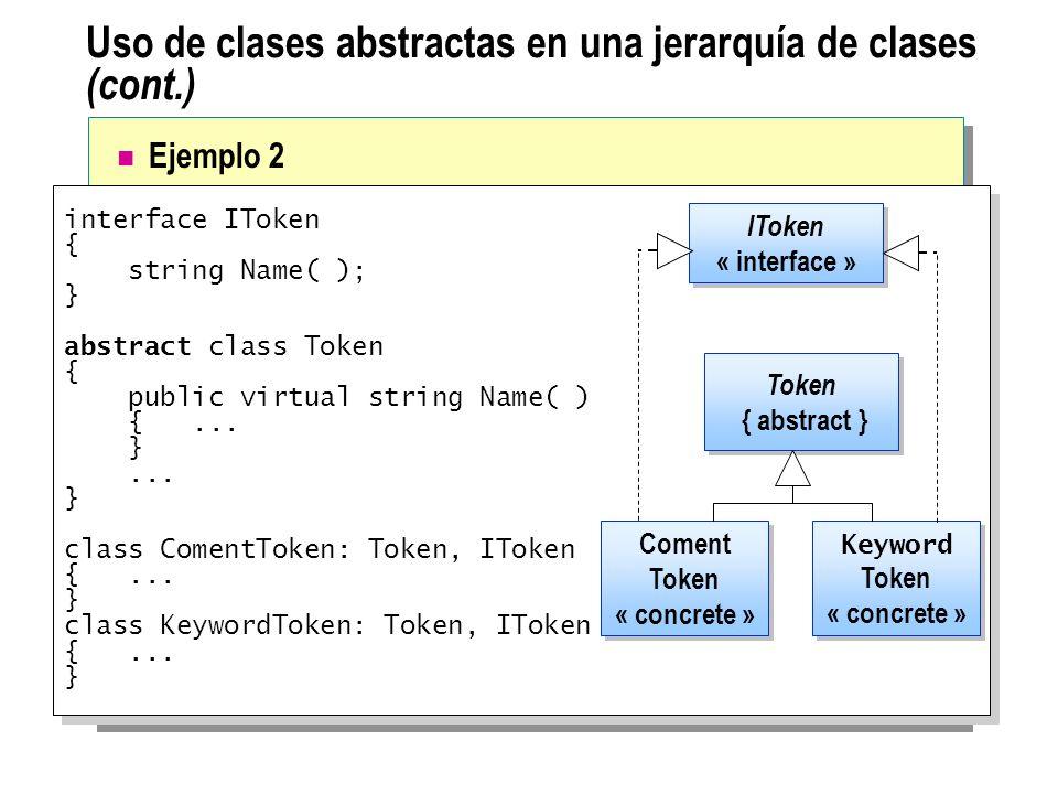 Uso de clases abstractas en una jerarquía de clases (cont.)