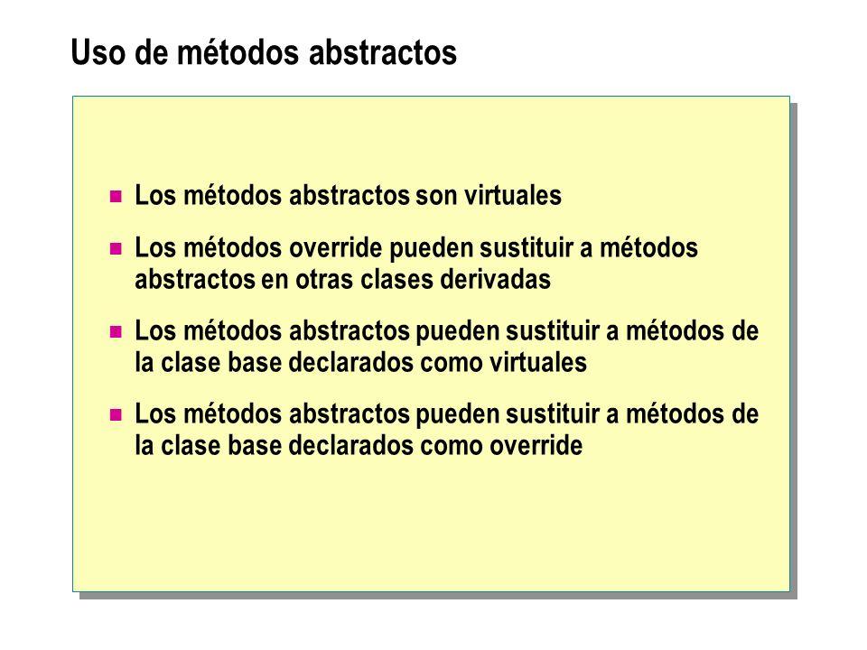 Uso de métodos abstractos