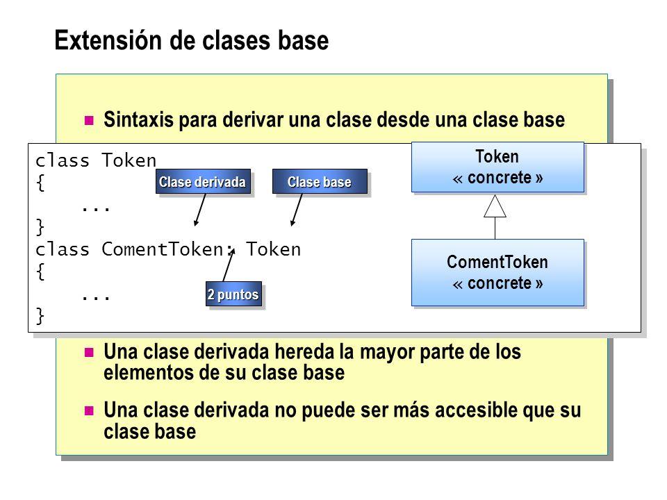 Extensión de clases base