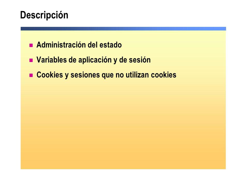 Descripción Administración del estado