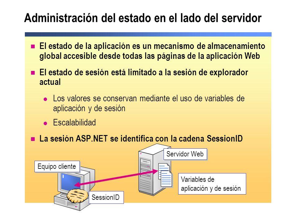 Administración del estado en el lado del servidor