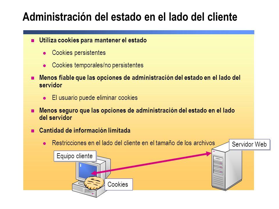 Administración del estado en el lado del cliente