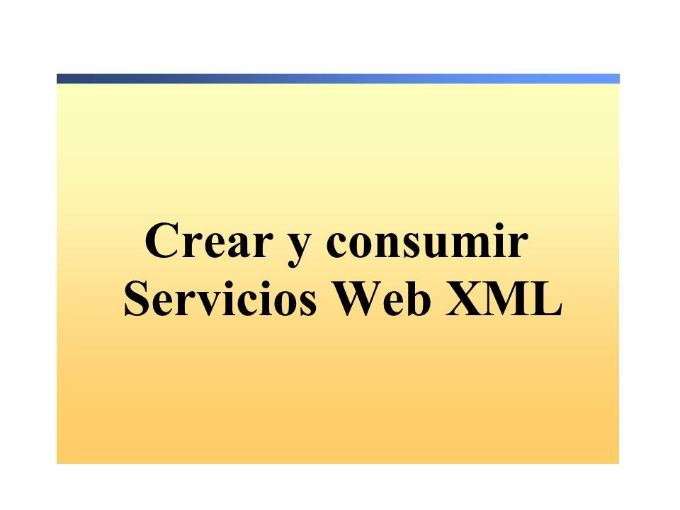 Crear y consumir Servicios Web XML