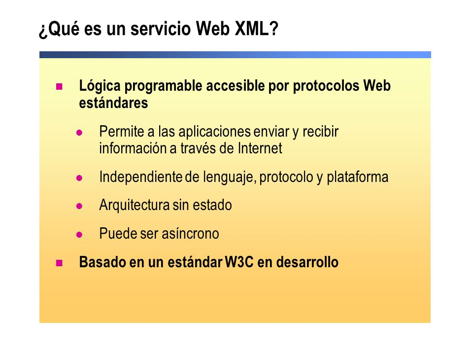¿Qué es un servicio Web XML