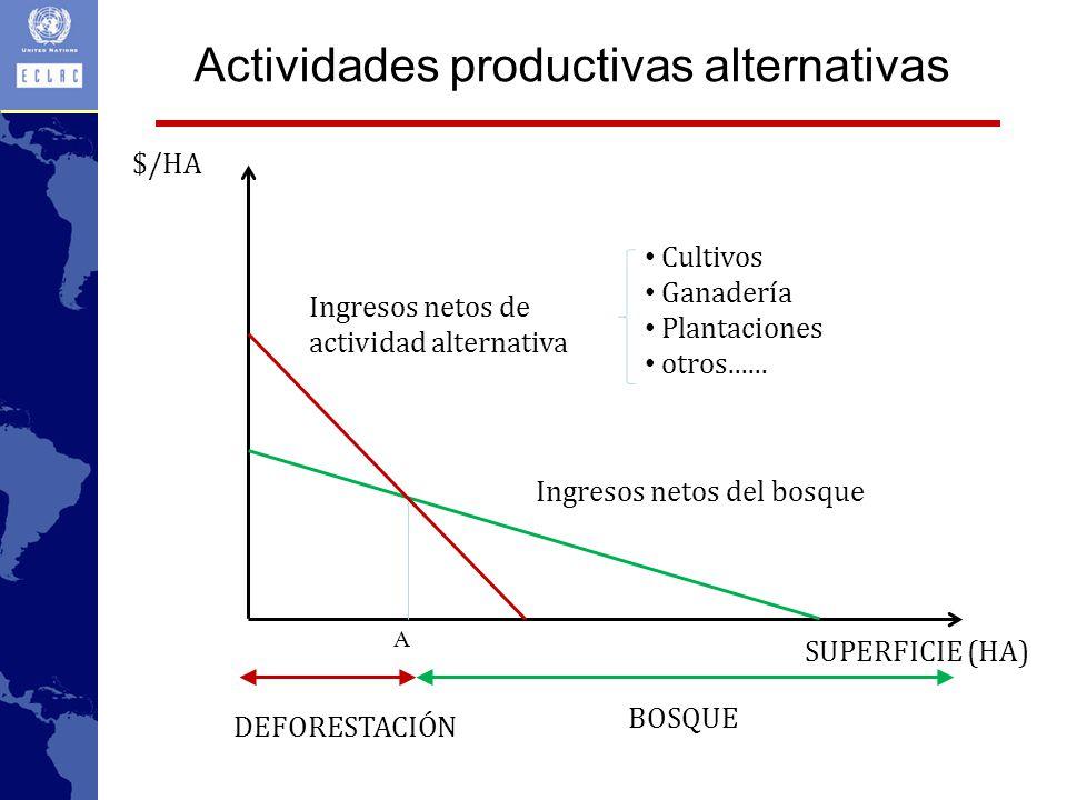 Actividades productivas alternativas