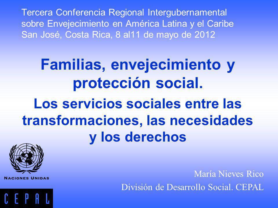 Familias, envejecimiento y protección social.