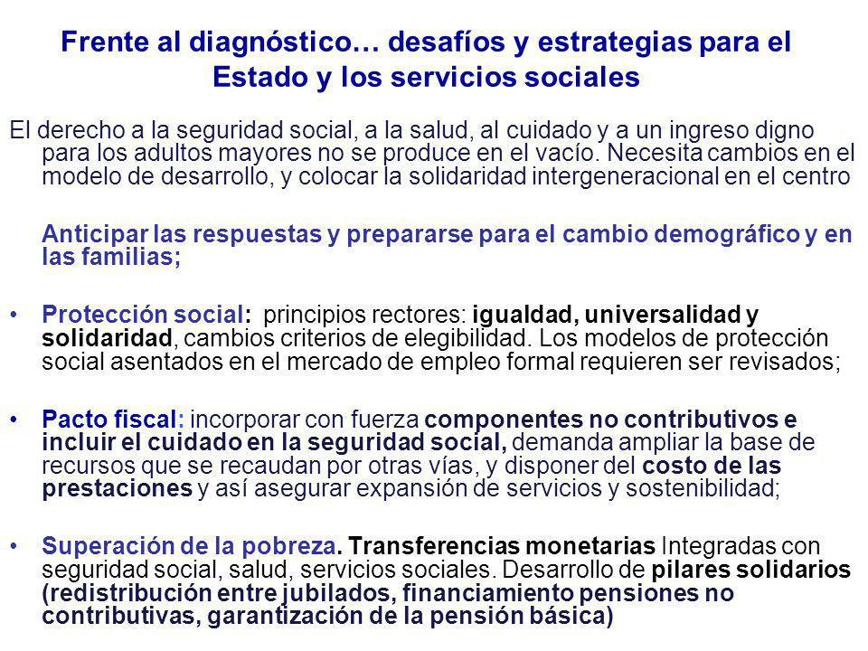 Frente al diagnóstico… desafíos y estrategias para el Estado y los servicios sociales
