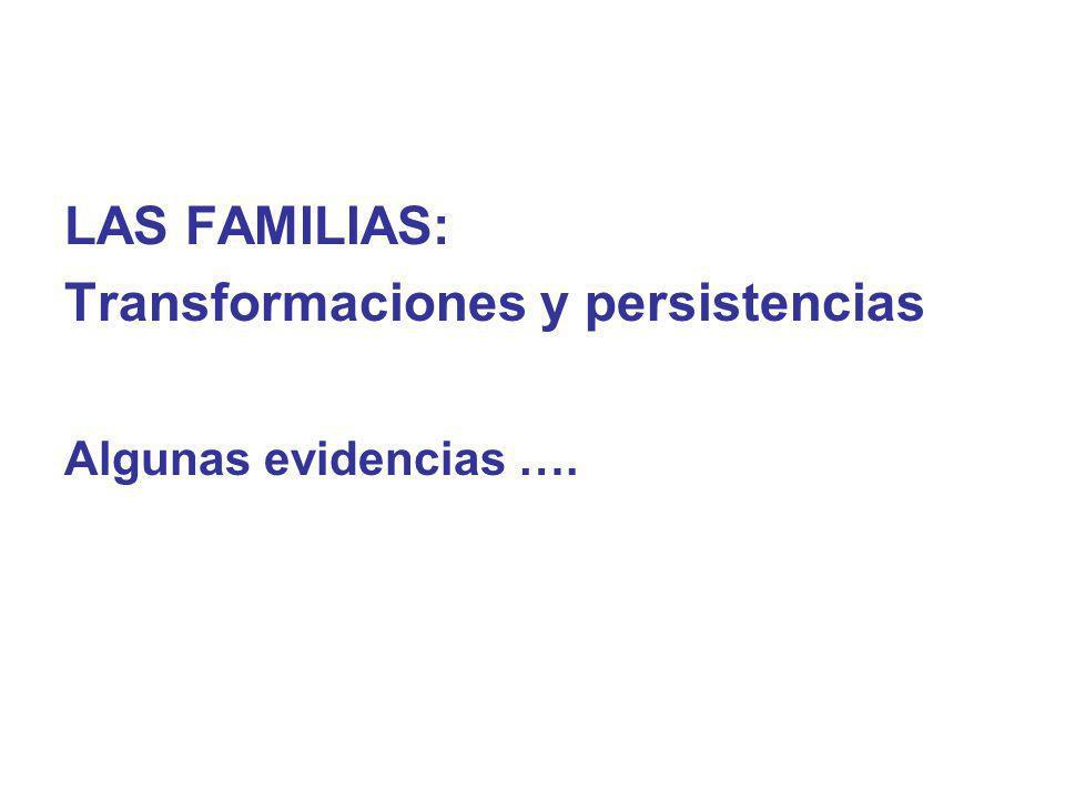 Transformaciones y persistencias