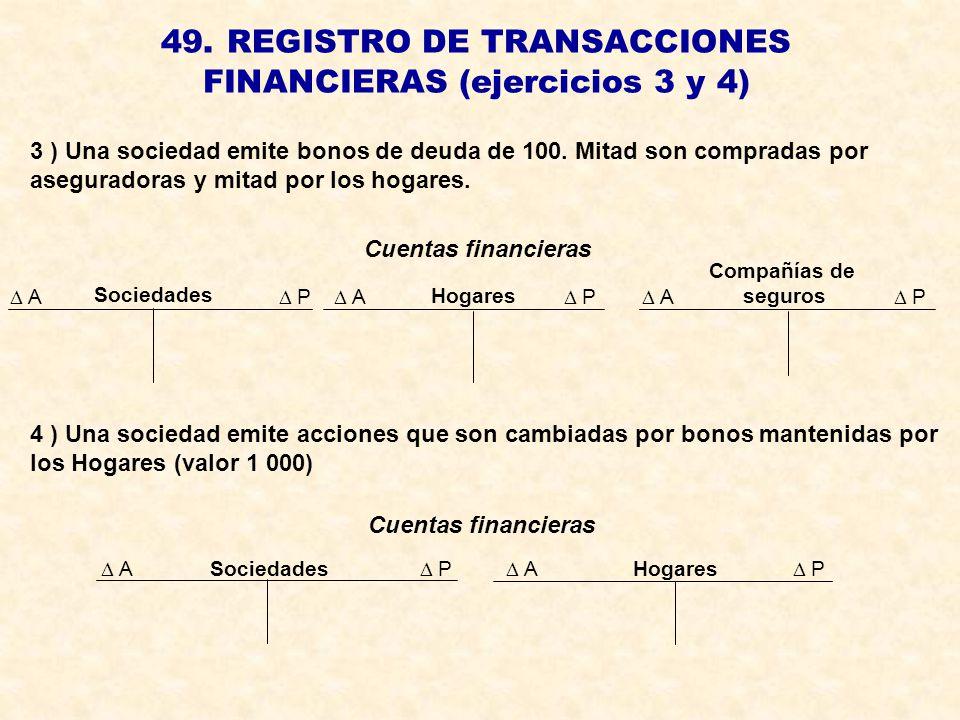 49. REGISTRO DE TRANSACCIONES FINANCIERAS (ejercicios 3 y 4)