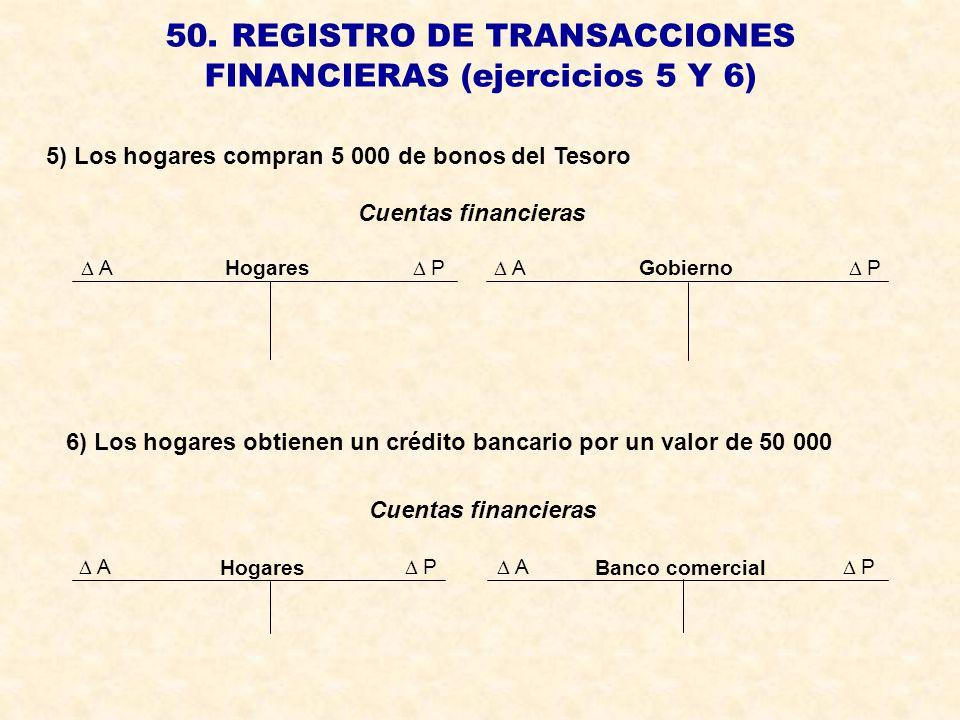50. REGISTRO DE TRANSACCIONES FINANCIERAS (ejercicios 5 Y 6)