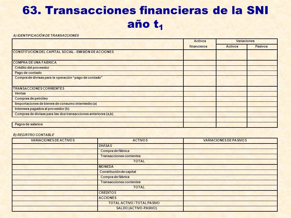 63. Transacciones financieras de la SNI año t1