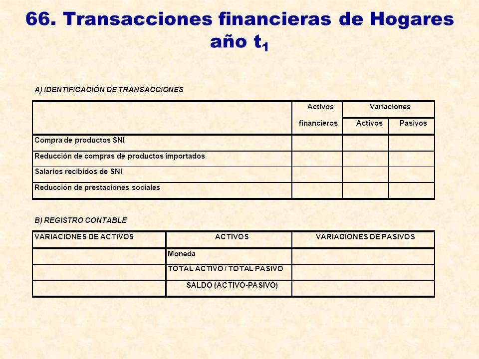 66. Transacciones financieras de Hogares año t1