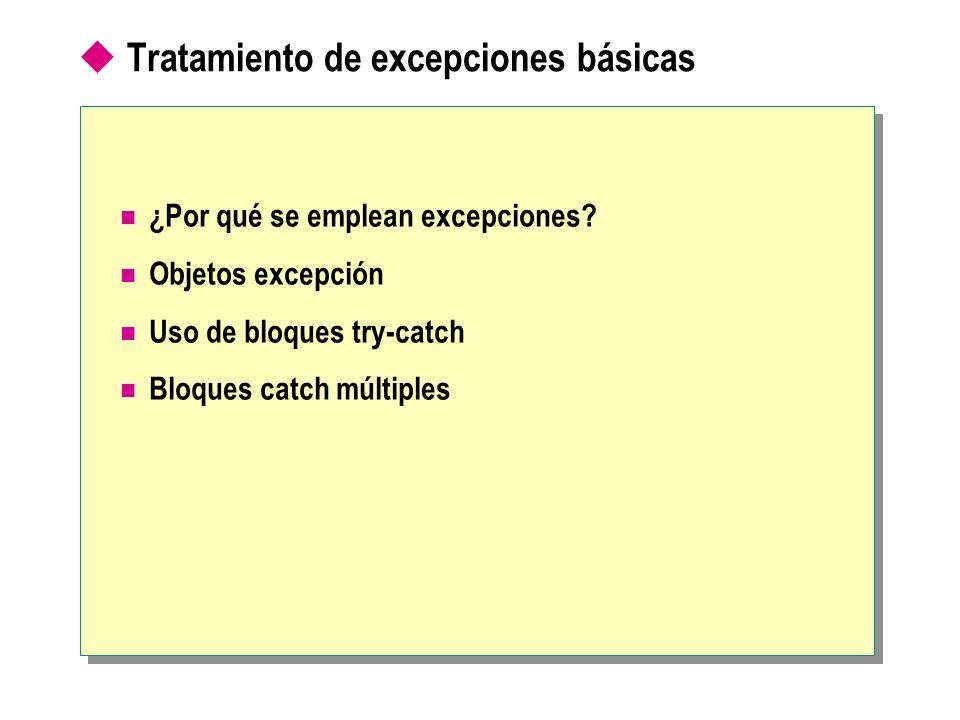 Tratamiento de excepciones básicas