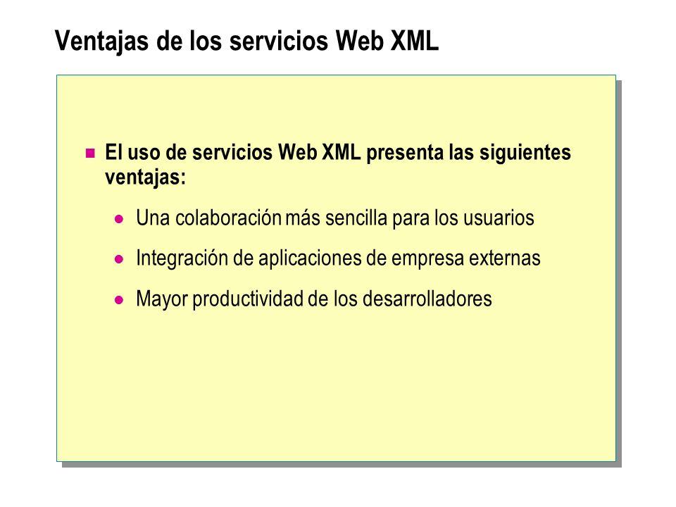 Ventajas de los servicios Web XML