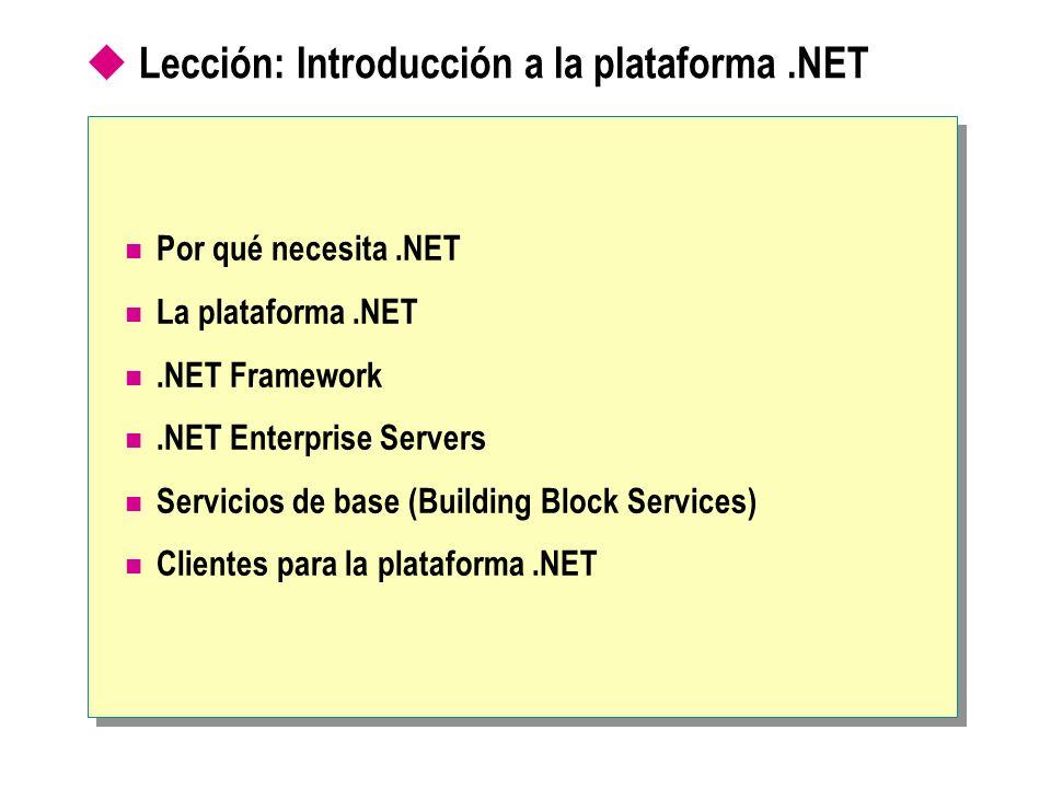 Lección: Introducción a la plataforma .NET
