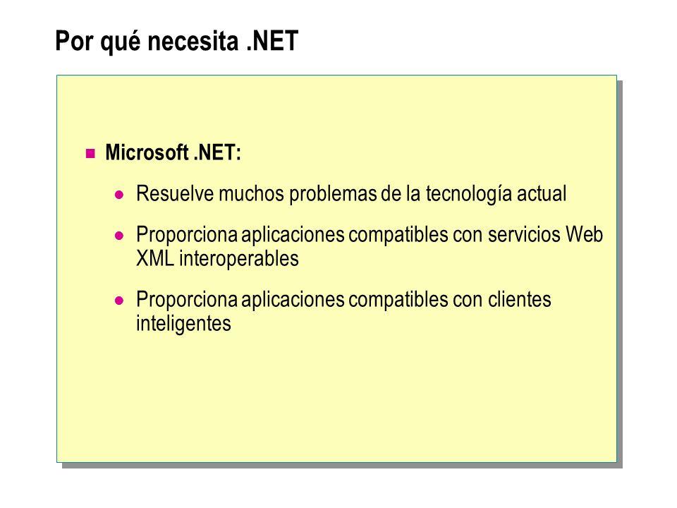 Por qué necesita .NET Microsoft .NET: