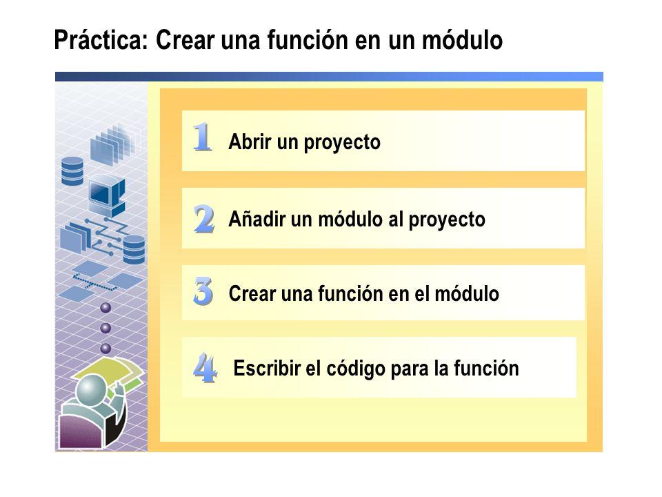Práctica: Crear una función en un módulo