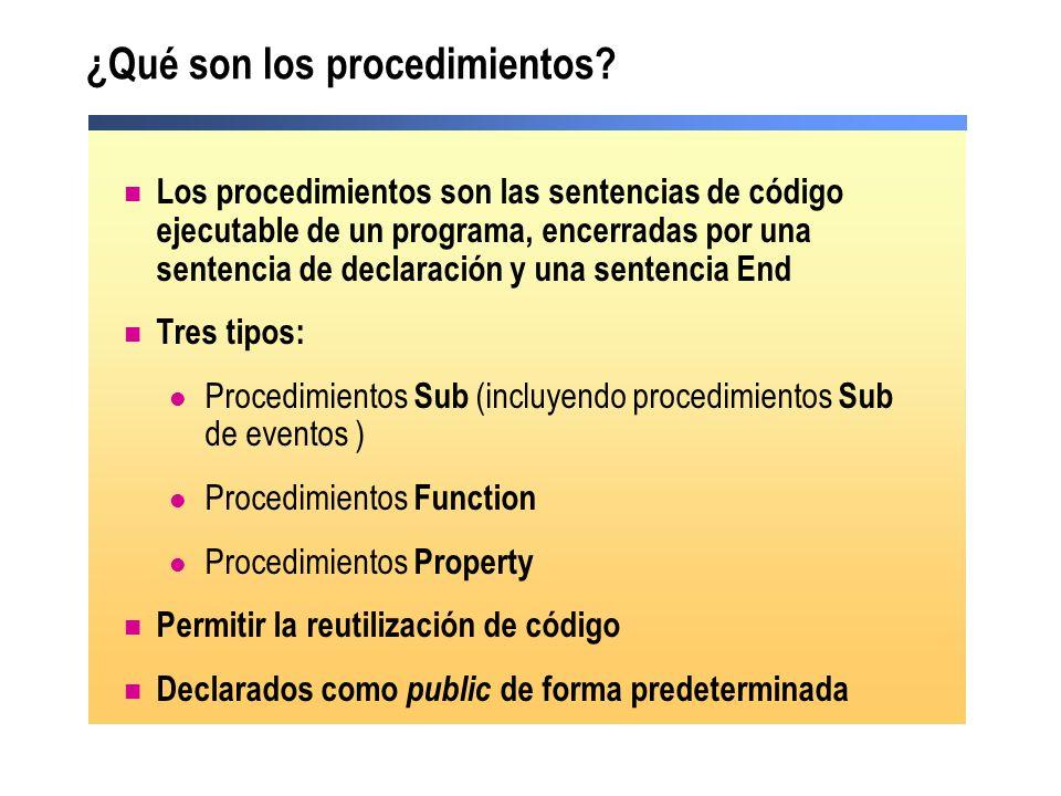 ¿Qué son los procedimientos