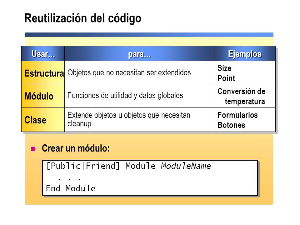 Reutilización del código
