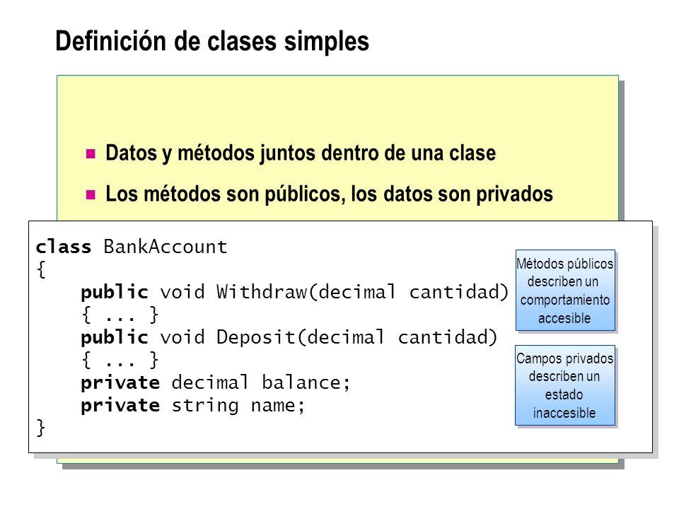 Definición de clases simples