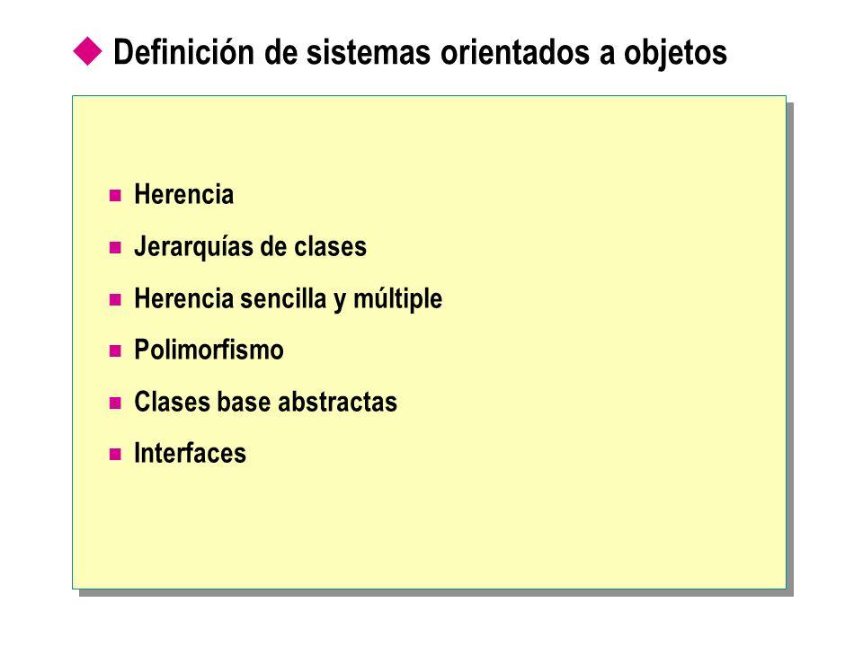 Definición de sistemas orientados a objetos