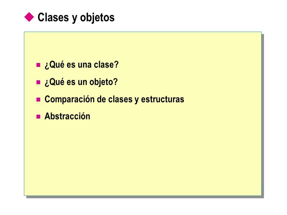 Clases y objetos ¿Qué es una clase ¿Qué es un objeto