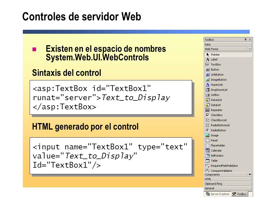 Controles de servidor Web
