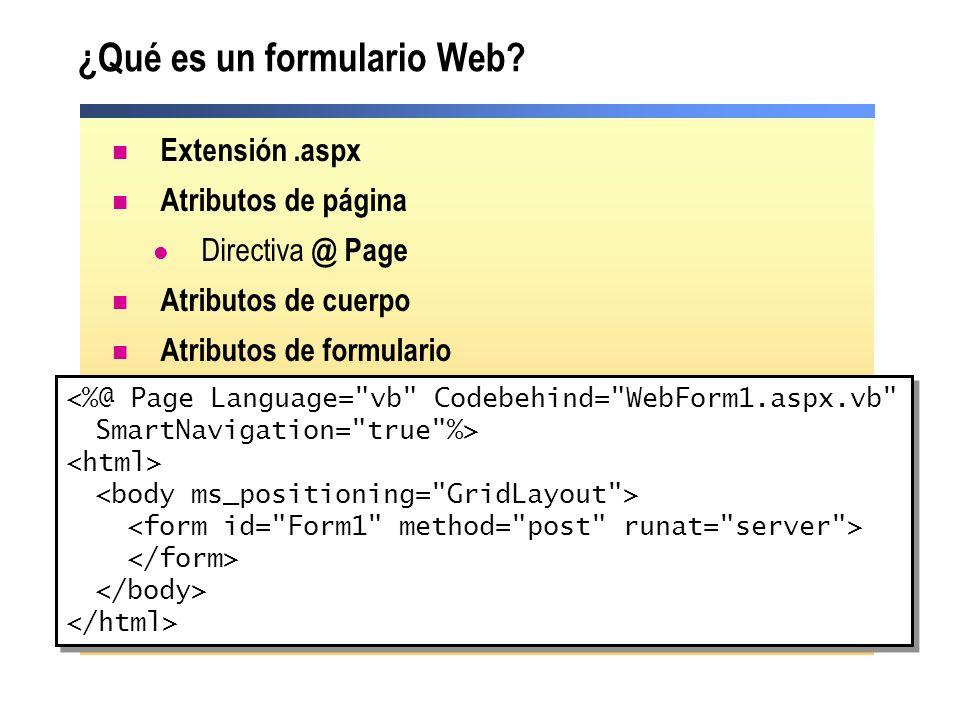 ¿Qué es un formulario Web