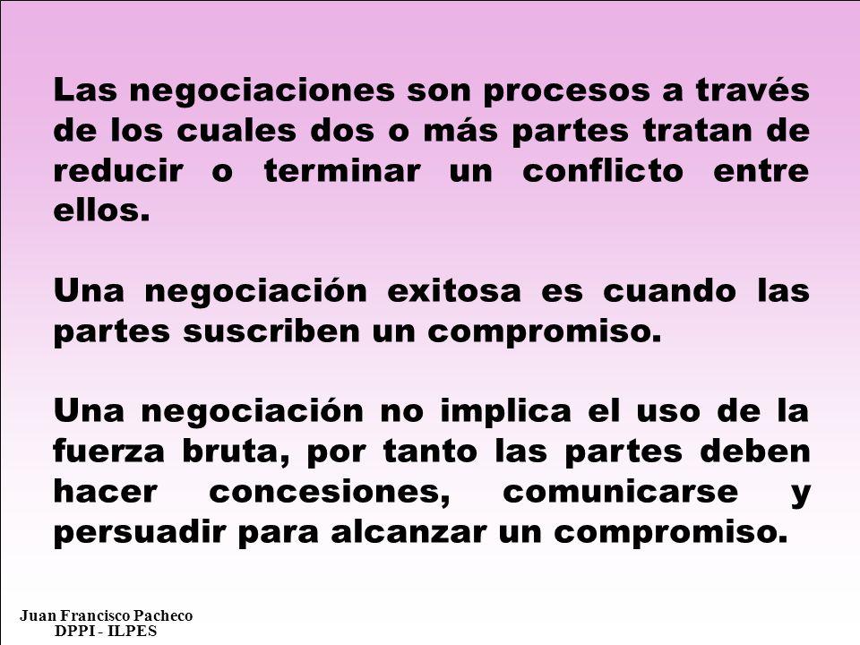Las negociaciones son procesos a través de los cuales dos o más partes tratan de reducir o terminar un conflicto entre ellos.