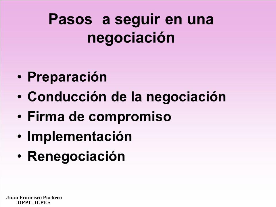 Pasos a seguir en una negociación