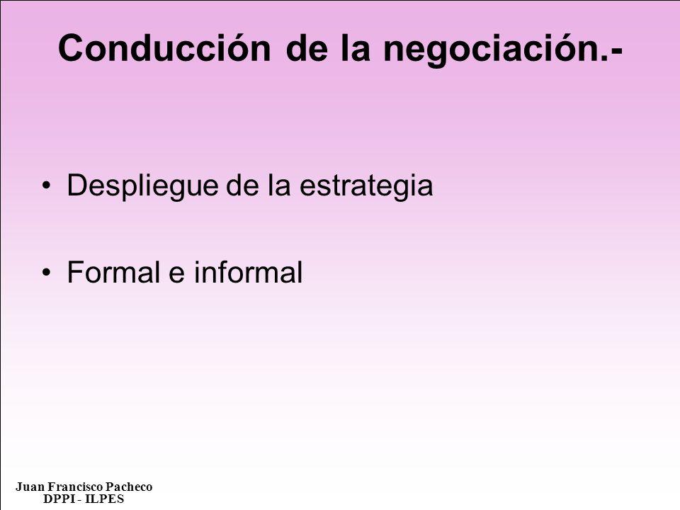 Conducción de la negociación.-