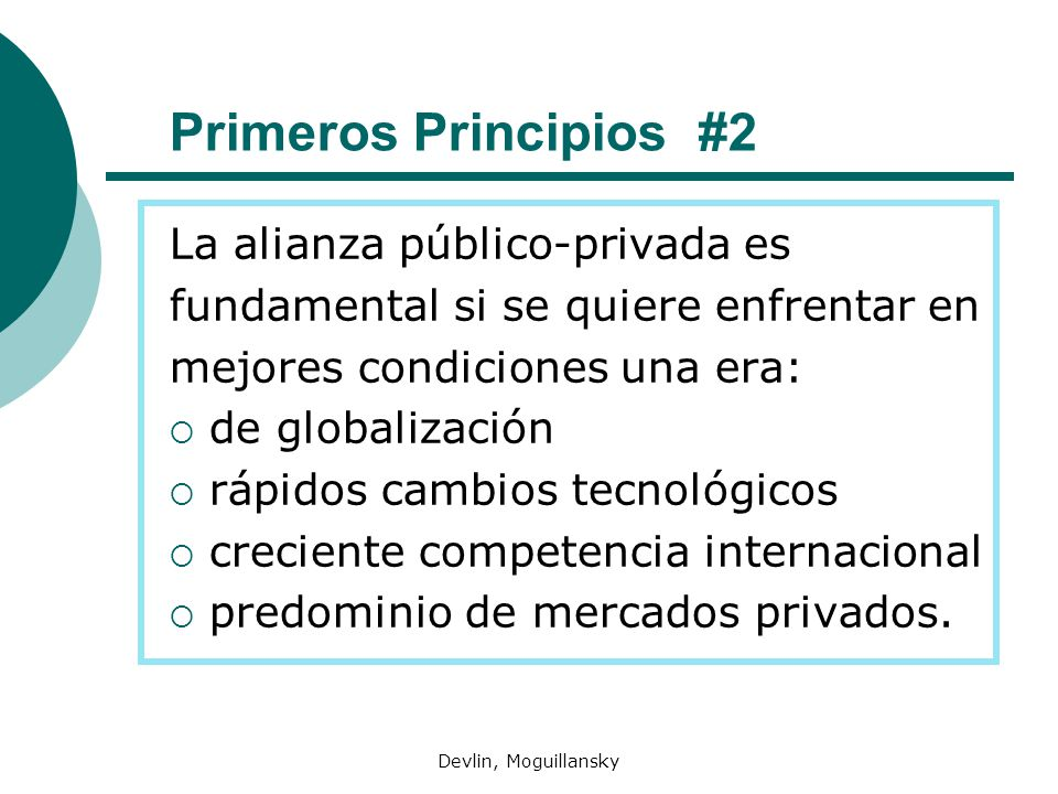 Primeros Principios #2 La alianza público-privada es