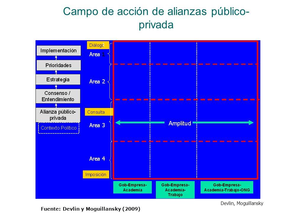 Campo de acción de alianzas público-privada