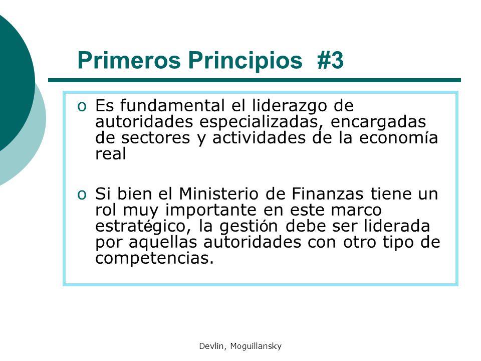 Primeros Principios #3 Es fundamental el liderazgo de autoridades especializadas, encargadas de sectores y actividades de la economía real.