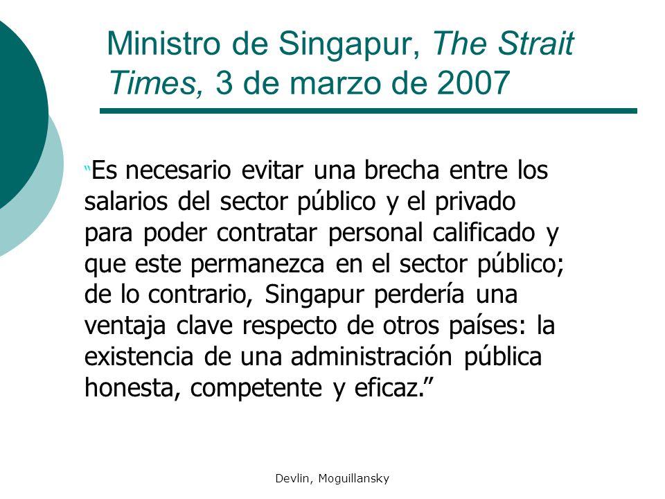 Ministro de Singapur, The Strait Times, 3 de marzo de 2007