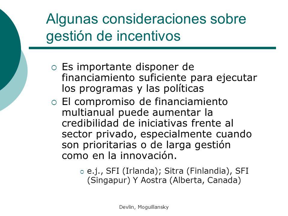 Algunas consideraciones sobre gestión de incentivos