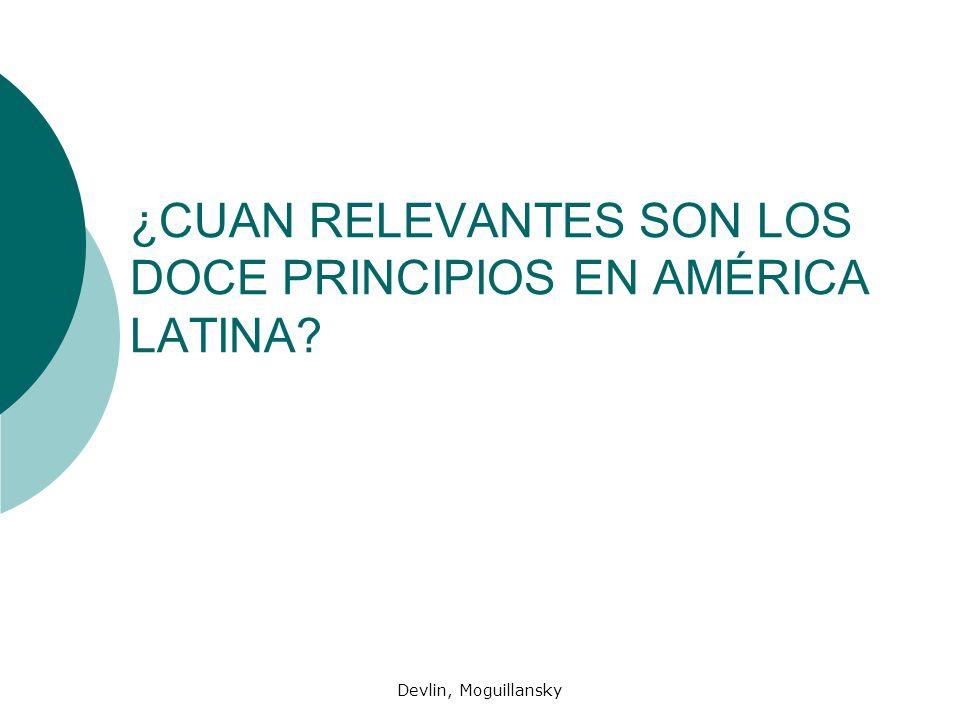 ¿CUAN RELEVANTES SON LOS DOCE PRINCIPIOS EN AMÉRICA LATINA