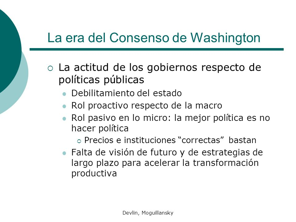 La era del Consenso de Washington
