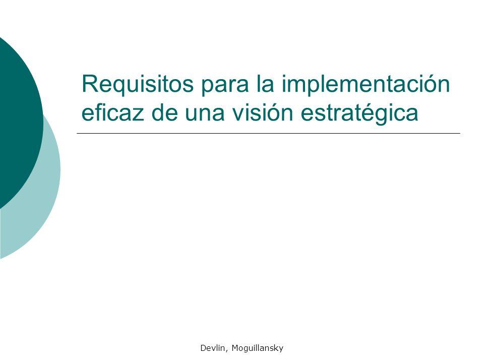 Requisitos para la implementación eficaz de una visión estratégica
