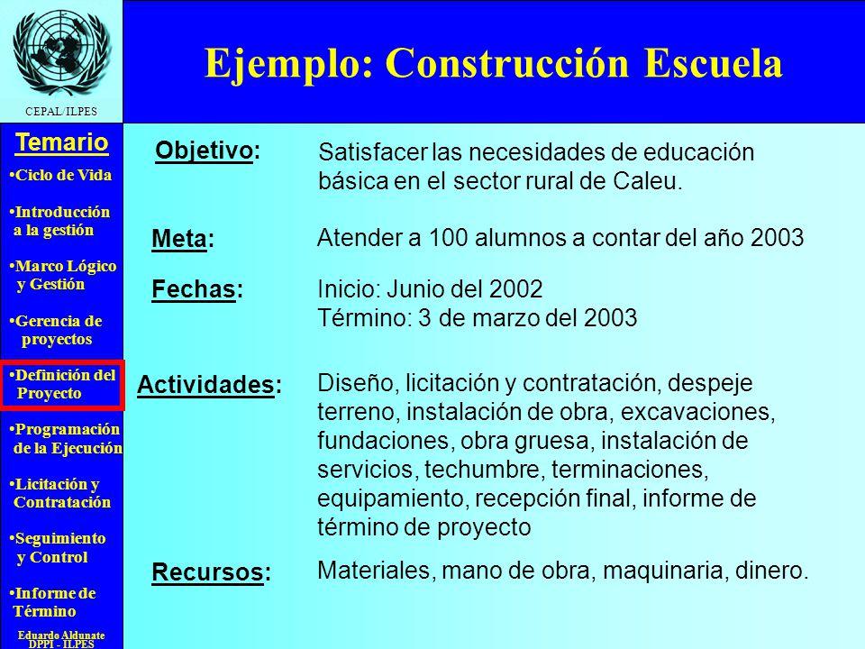 Ejemplo: Construcción Escuela