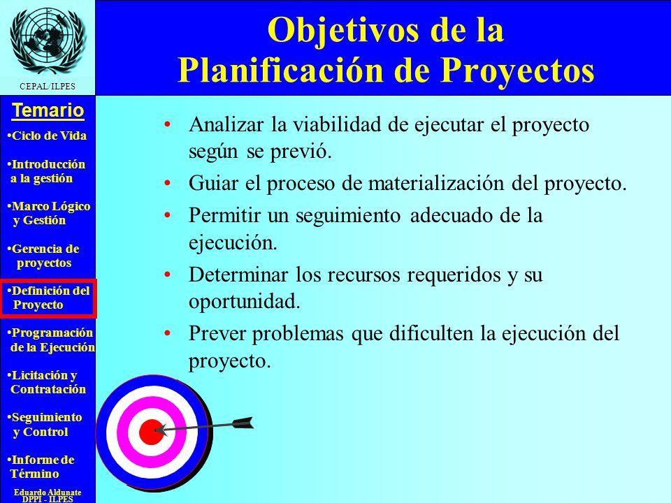 Objetivos de la Planificación de Proyectos