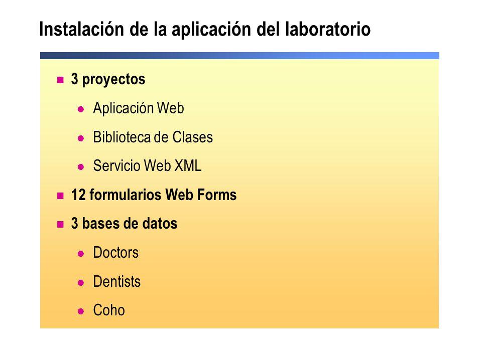 Instalación de la aplicación del laboratorio