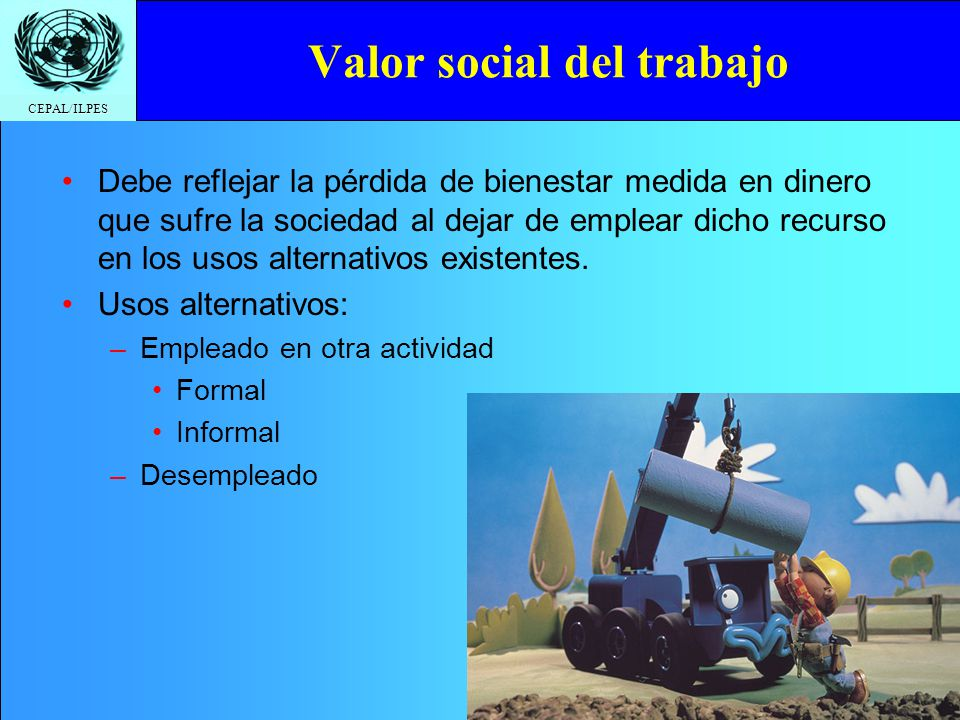 Valor social del trabajo