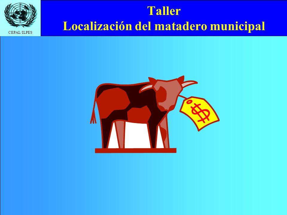 Taller Localización del matadero municipal