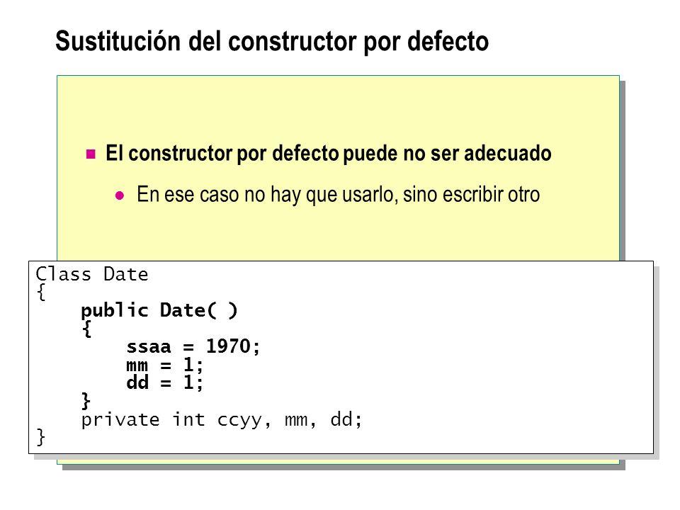 Sustitución del constructor por defecto