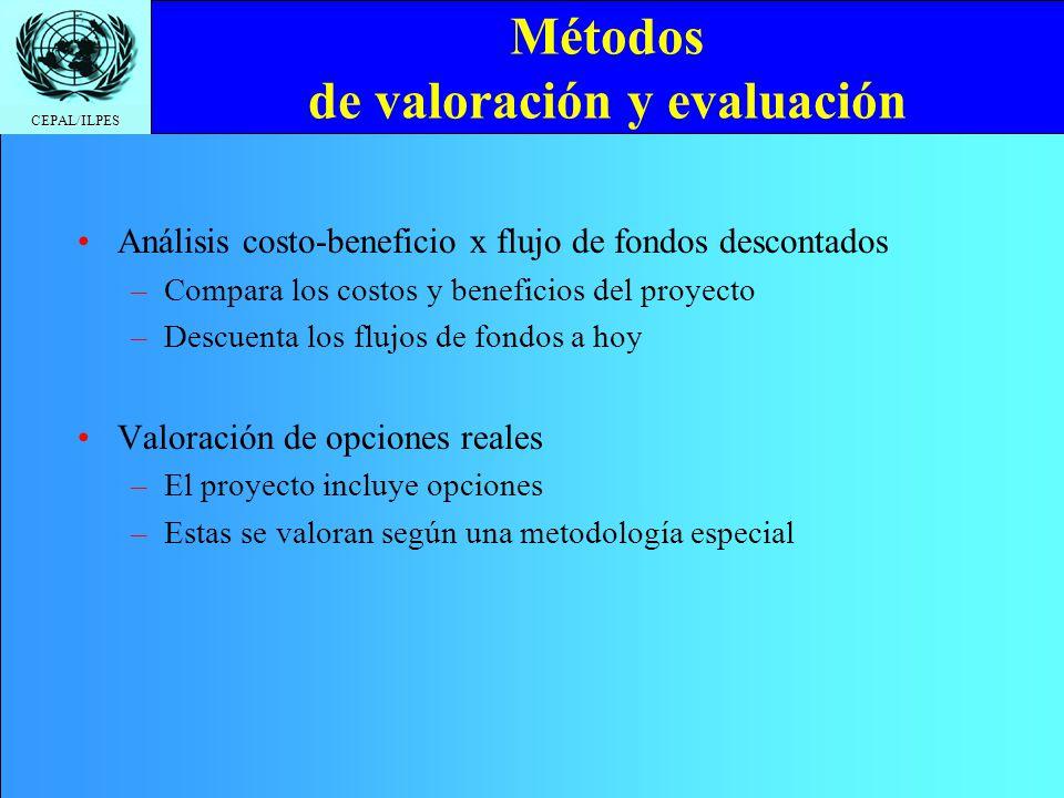 Métodos de valoración y evaluación