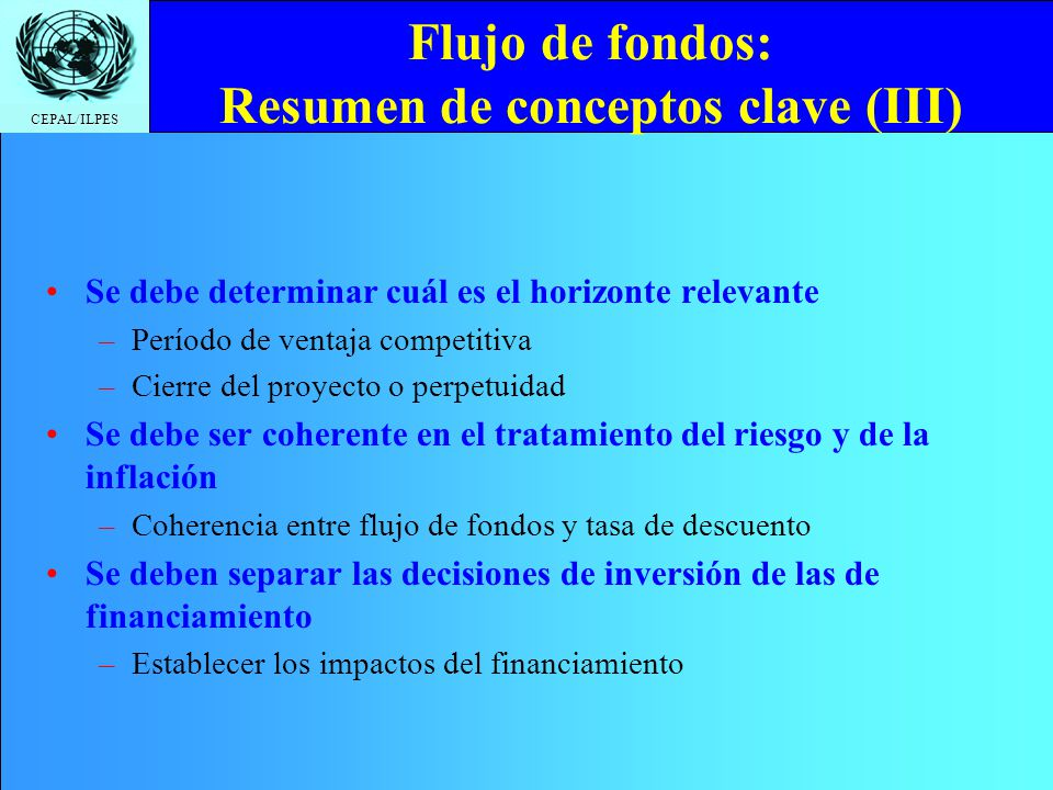 Flujo de fondos: Resumen de conceptos clave (III)