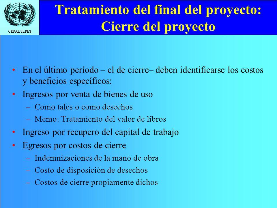 Tratamiento del final del proyecto: Cierre del proyecto